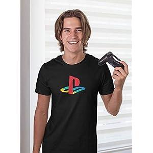 Ripple Junction PlayStation Logo Adult T-Shirt XL Black