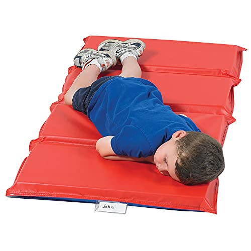 """Product Image of the Angeles 2"""" Super Rest Mat, Red/Blue – 50"""" by 25"""" by 2"""" – Comfortable..."""