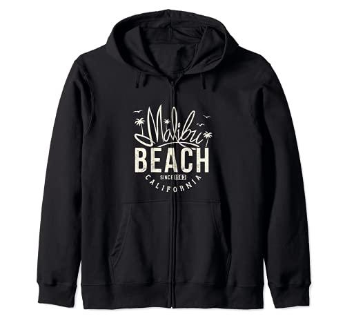 Gráfico casual de playa de California para mujer Sudadera con Capucha