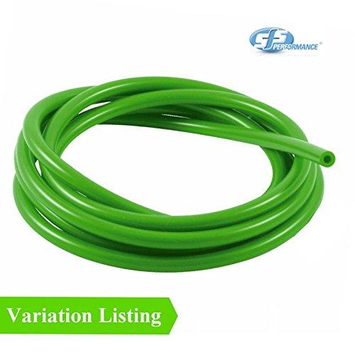 SFS 1 Meter Grün Silikon Unterdruckschlauch/Turbo Gummischlauch Luft-Wasser-Leitung [ 5mm ]