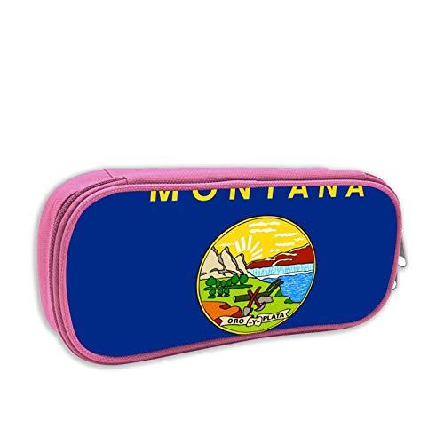 Montana Flagge USA Große Kapazität Federmäppchen Bleistift Student Schreibwaren Box Aufbewahrungstasche Kosmetik