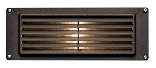 Hinkley Landscape Lighting Louvered Brick Light – Hardscape Deck Light Highlights Important Hardscape Features and Surfaces and Increases Home Security - Bronze Finish, 1594BZ-LED