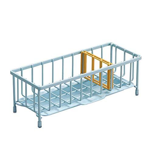 WKEXN Portaestropajos, Eficiente Organizador de Fregadero para almacenar estropajos o esponjas, Guarda Estropajo de Cocina con Separador, Azul