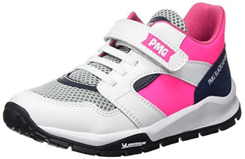 PRIMIGI Jungen Mädchen Scarpa Bambina SUOLA Michelin Hohe Sneaker, Pink (Bianco/Fuxia FL 5440700), 30 EU