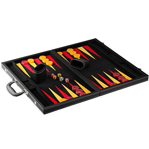 Philos 1735 - Donousa, groß, Backgammon, Kunstleder, schwarz, rot, gelb