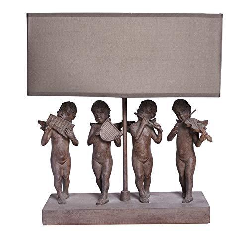 Tischleuchte Engel Lampe Figuren Vintage Shabby Chic CW026 Palazzo Exclusiv 37 cm Tischlampe