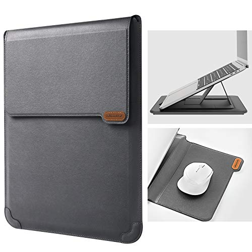 Nillkin Laptop Sleeve Case with Laptop Stand and Mouse Pad, 13-14 inch Computer Bag with 2 Adjustable Angle Laptop Stand for MacBook Pro/Air 13,Dell,Chromebook,XPS 13,Surface Book, iPad Pro 12.9, Gray