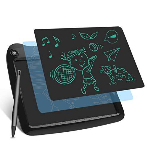 Tavoletta Grafica LCD Scrittura Digitale, Elettronico Ewriter LCD Writing Tablet Disegno Pad con Memoria di Blocco per Bambini Della Casa Scuola Ufficio Noir