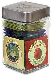 The Republic of Tea Ultimate Green Tea Bag Assortment Jar, 45 Tea Bags