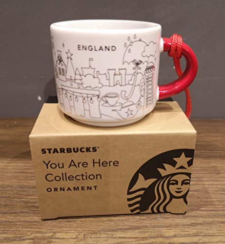 Starbucks You are Here England Ornament/Espresso-Tasse **2018 Christmas Edition** – 59 ml