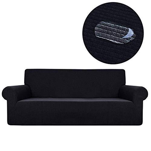 DHTOMC Sofa Schonbezug Stretch, Sofabezug Wasserbeständige Polyester Jacquard Stoff Sofa Schutzhülle, Für Haustiere Kinder Kinder Hund Cat-L-Sessel