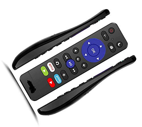 SccKcc Remote for All Roku TV Brands [TCL/Hisense/Sharp/Insignia/ONN/Philips/Sanyo/JVC/.] w/Top Volume Buttons and Channel-Lock for Built-in Roku Smart TV [Not for Roku Stick]