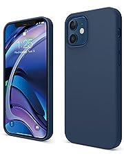 """elago Liquid Silicone Case Compatibel met iPhone 12 Hoesje & Compatibel met iPhone 12 Pro Hoesje (6,1"""") - Vloeibaar Siliconen Beschermhoes, Complete Bescherming: 3-laags Schokbestendig (Donkerblauw)"""