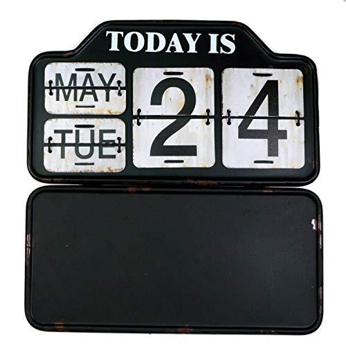 【USA アメリカン デザイン】カレンダー USA 日めくり カフェ ガレージ インダストリアル ビンテージ バイカー インテリア 看板 BK ;AVCA-002