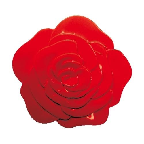 ZAK DESIGN 0901 SOTTOPENTOLA ROSE TRIVET ROSSO IN MELAMINA