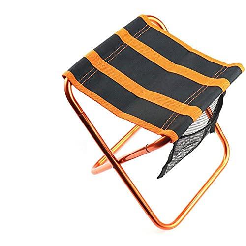 IADZ Taburete Plegable, Taburete portátil para Acampar al Aire Libre, Taburete portátil, aviación, Aluminio, Viaje, Playa, Tren, Pesca, Poni, Silla Plegable