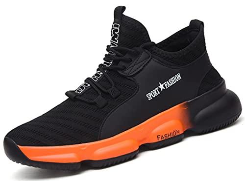 [SUADEX] 安全靴 あんぜん靴 作業靴 おしゃれ 安全スニ一カ一 工事現場靴 黒 オレンジ 黄 ホワイト通気性 鋼先芯 耐摩耗 防刺 耐滑 ワークシューズ セーフティーシューズ