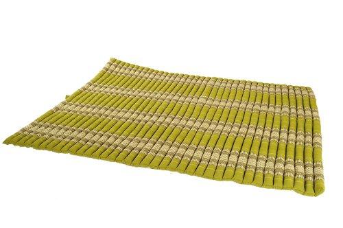 Handelsturm Thaikissen XXL Rollmatte ca. 205 x 150, Thai Kapok Matte, Rollmatte für Massage, als Liegewiese oder zum Spielen, Kissen (Bambusgrün)