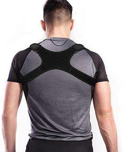 Charminer Postura Sportiva per Cintura da Spalla per Allenatore Posteriore, per Uomo e Donna Supporto per la Schiena Regolabile da Spalla Traspirante Regolabile (XL)