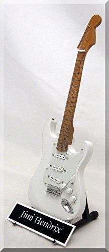 Jimi Hendrix Guitarra en miniatura réplica W/Nombre de etiqueta