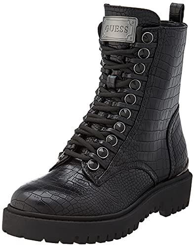 Guess OXANA/Stivaletto (Bootie)/Leat, Anfibi Donna, Black, 36 EU