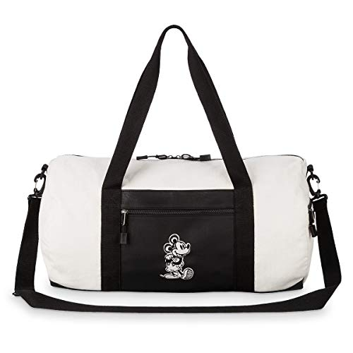 Loungefly x Disney Mickey Mouse Canvas Duffle Bag (Taupe/Black, One Size)