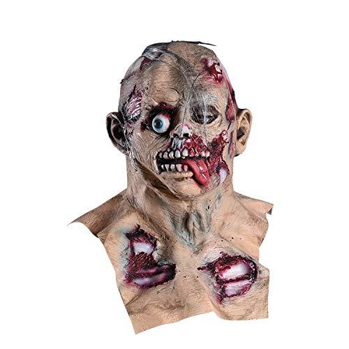 Máscara De Látex De Demonio Zombie De Terror, Disfraz De Halloween, Tocado De Fiesta De Graduación, Disfraz De Maquillaje Para Adultos, Accesorios De La Casa Encantada, Juegos De Rol