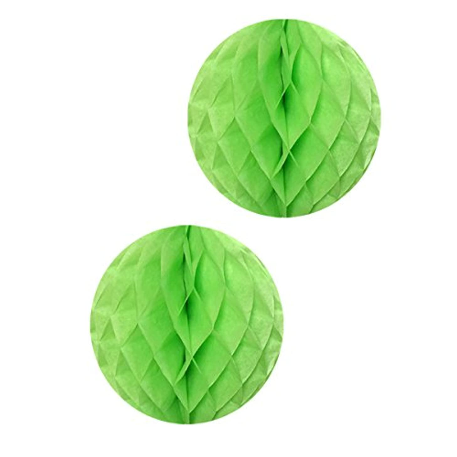 Allydrew Hanging Party Decoration, 16 Inch Tissue Honeycomb Ball for Weddings, Birthday Parties, Baby Showers, and Nursery Décor (2 pack), Light Green