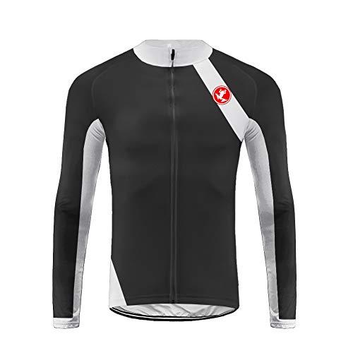 Uglyfrog Conjunto de Jersey de Ciclismo de Manga Larga de Ciclismo de montaña Transpirable de Ciclismo de montaña para Hombre CXML06