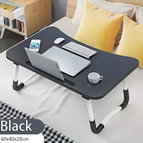Yhtech Modern Plegable del sostenedor del soporte del ordenador portátil portátil Tabla Estudio Teórico escritorio de madera plegable del ordenador for la cama del sofá Porción del té Table Stand Util