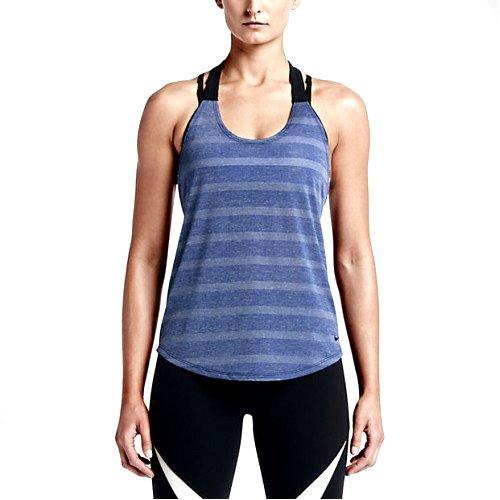 Nike Elastika Elevate Debardeurs d'entrainement Femme, Bleu, FR : L (Taille Fabricant : L-44/46)
