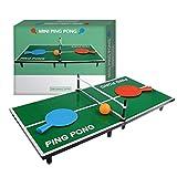 Mini Jeu Table Ping Pong | Pack Complet | Qualité Premium | Dimensions 60 x 30 cm | 2 Mini Raquettes | 1 Balle de Ping Pong | Jeu Famille Enfants et Adultes - Créé OriginalCup®