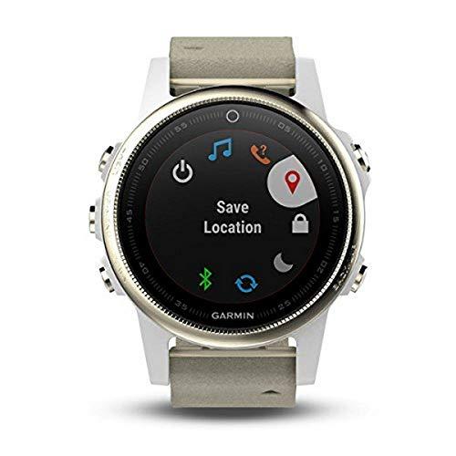 Garmin Orologio Fenix 5S GPS con Misurazione Frequenza Cardiaca al Polso Colore Champagne Metal Armband