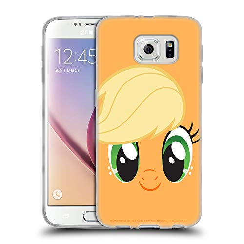 Head Case Designs Officially Licensed My Little Pony Applejack Full Face Soft Gel Case Compatible with Samsung Galaxy S6