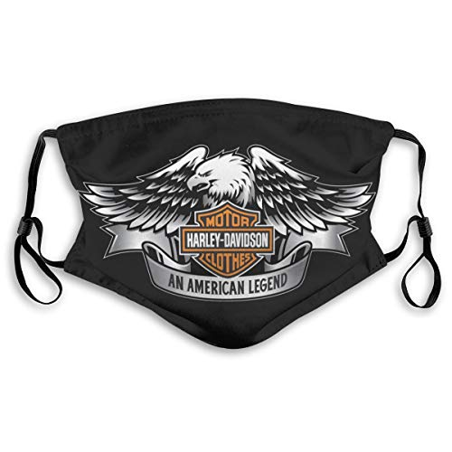 ZVEZVI Harley Davidson Nahtloser Filterschal Bandana Gesichtsschutz wiederverwendbar Staubdicht M.
