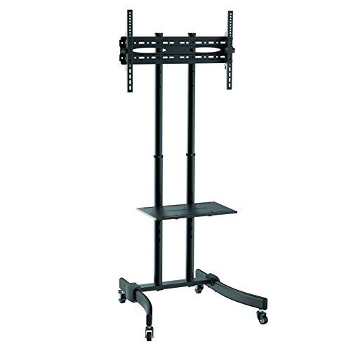 LogiLink BP0026 - Profi TV-Halterung / TV-Ständer auf Rollen mit Höhenverstellung für 37-70 Zoll (LCD, LED, OLED, …), Farbe: Schwarz