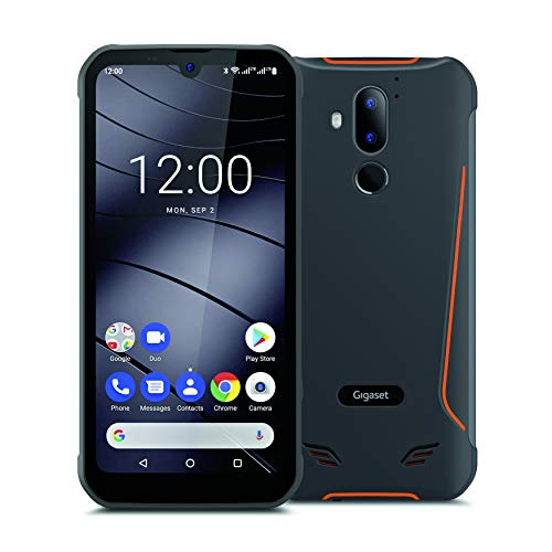 Gigaset GX290 Outdoor Smartphone ohne Vertrag, 15,49cm (6,1 Zoll) V-Notch HD+ Display, wasserdicht, staubdicht, stoßfest, mit Gesichtserkennung, Android 10, Dual SIM und 32GB Speicher, titanium grey