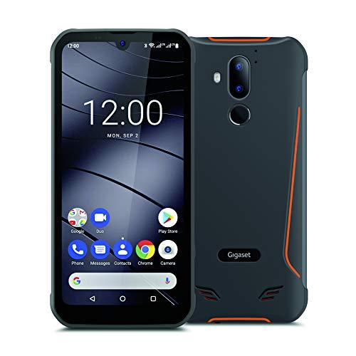 Gigaset GX290 Outdoor Smartphone (ohne Vertrag, 15,49 cm (6,1 Zoll) V-Notch HD+ Display, wasserdicht, staubdicht, stoßfest, mit Gesichtserkennung, Dual SIM und 32GB Speicher) titanium grey