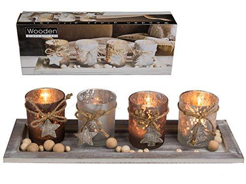 Preis am Stiel Holzteller mit Teelichthalter   Weihnachtsdekoration   Kerzenhalter   Weihnachten   Geschenkidee für Frauen   Wohnaccessoires   Deko Teller   Windlicht