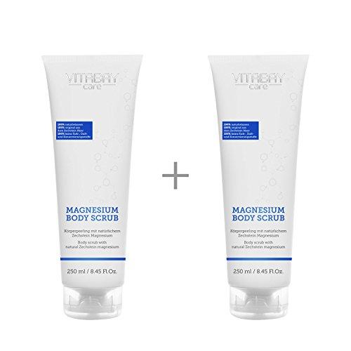 Magnesium Body Scrub - exfoliante corporal con magnesio natural (500 ml (2 x 250 ml))