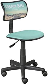 Urban Shop Swivel Mesh Chair | Adjustable Lever for Varying Heights (Dream Big) (Dream Big)