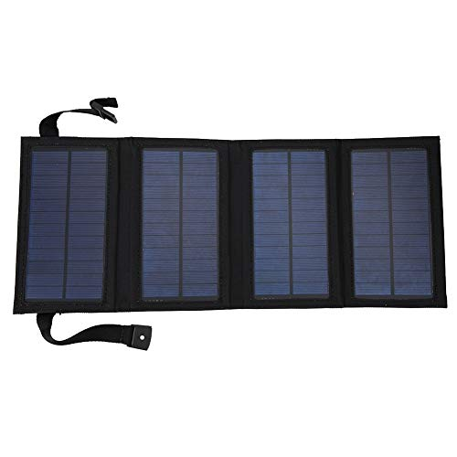 Yencoly Foldable Solar Panel,5V USB Folding Solar Panel Charger Travel Camping Portable Battery Charger Foldable Solar Panel for Camper, Motorhome Rallies, Mobile Offices 5V System