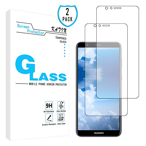 KATIN Huawei Mate SE Screen Protector - [2-Pack] Tempered Glass for Huawei Mate SE/Honor 7X Screen Protector Bubble Free, Easy to Install with Lifetime Replacement Warranty