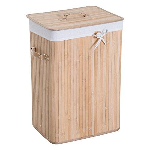 Cestos Para La Colada Bambu Marca HOMCOM