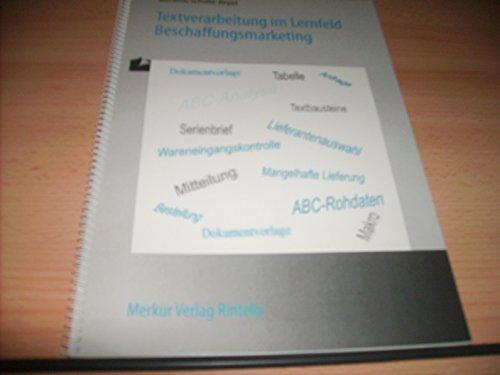 Textverarbeitung im Berufsfeld Beschaffungsmarketing
