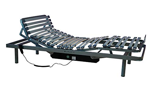 ekamia - Cama Articulada Eléctrica ERIS para el Hogar - 135cm x 190cm, Mando con Cable