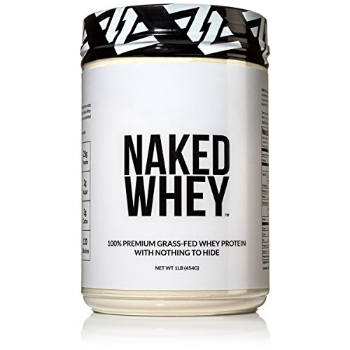 Naked WHEY 1LB 100% Grass Fed Unflavored Whey Protein Powder  US Farms Only 1 Ingredient Undenatured  No GMO Soy or Gluten  No Preservatives  Promote Muscle Growth and Recovery  15 Servings