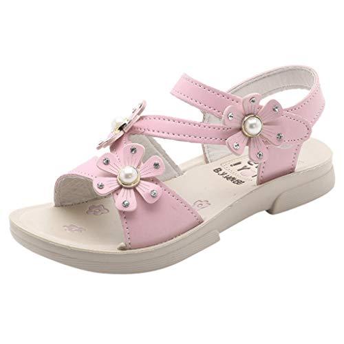 FinDaDa Mädchen Sandalen - 2020 Neue Blume koreanische Kinderschuhe Prinzessin Schuhe Mädchen Sandalen Strandschuhe Sandalen, Kleinkind Mädchen Hausschuhe Boden Schuhe Sandalen