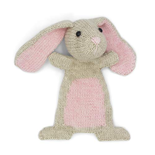 HardiCraft Strickpaket Strickset zum selber Machen mit Anleitung und Material für Kaninchen DOUTZE, 23 cm. Individuelles Geschenk
