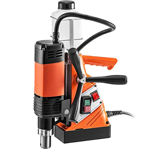 VEVOR Magnetic Drill Press 1100W Magnetic Base Drill 10000N Magnet Force Mag Drill with 1-3/8 inch (35mm) Boring Diameter 700 RPM Portable Electric Mag Drilling System Drill Press Drilling Machines